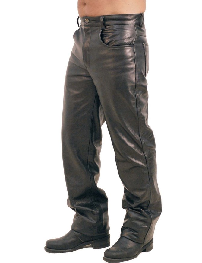 Grade-A Soft Cowhide Leather Pants for Men #MP500