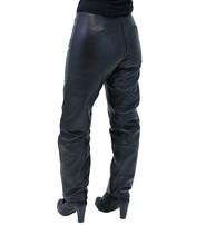 Double Snap Ladies Lambskin Leather Pants #LP3213K