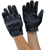 Ultimate Leather Motorcycle Gloves w/Knuckle Armor #G8245KNK