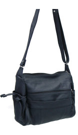 Extra Large Black Leather Purse w/Side Phone Pockets #P4180XK