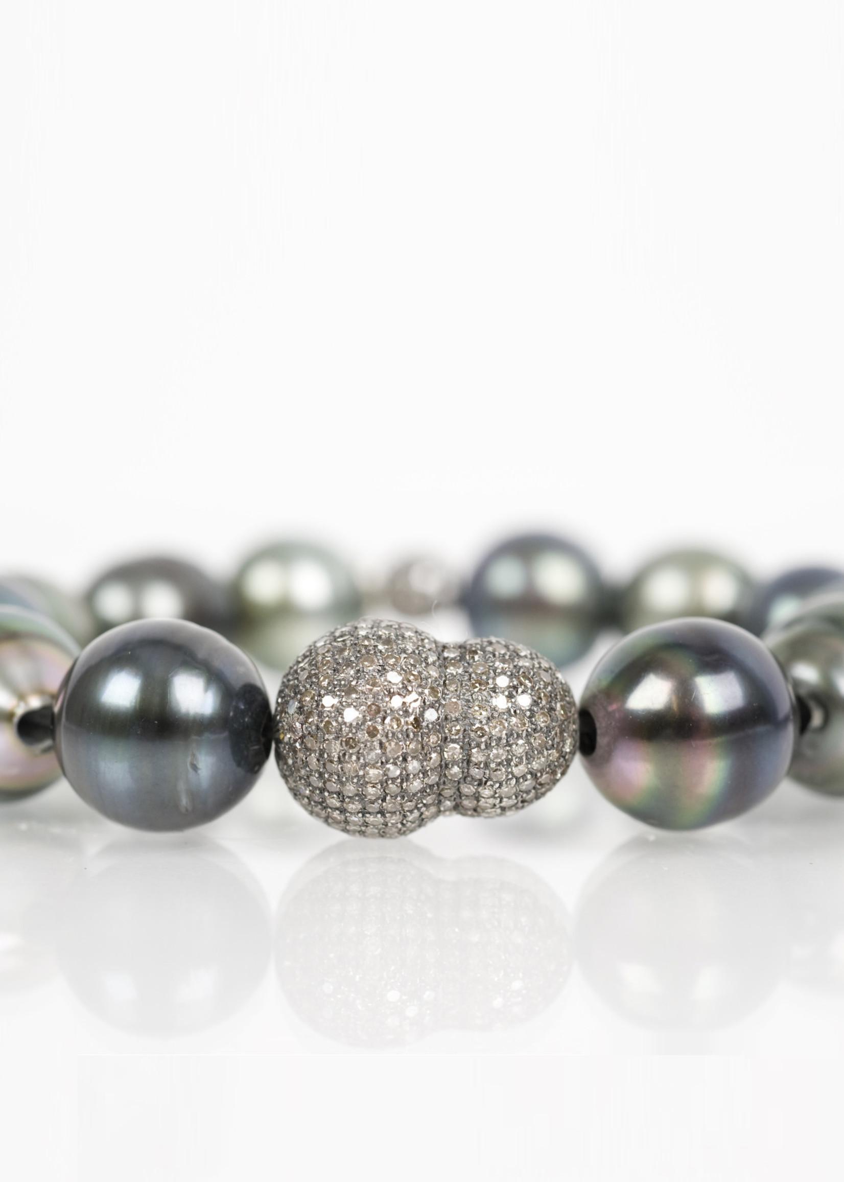 Mina Danielle Tahitian Pearl and Diamond Nugget Bracelet