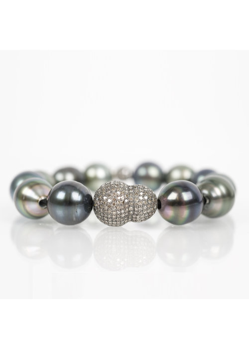 Mina Danielle Tahitian Pearl and Diamond Nugget Bracelet