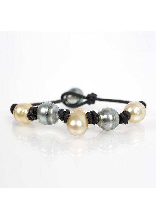 Mina Danielle Yellow Teardrop South Sea and Tahitian Pearl bracelet