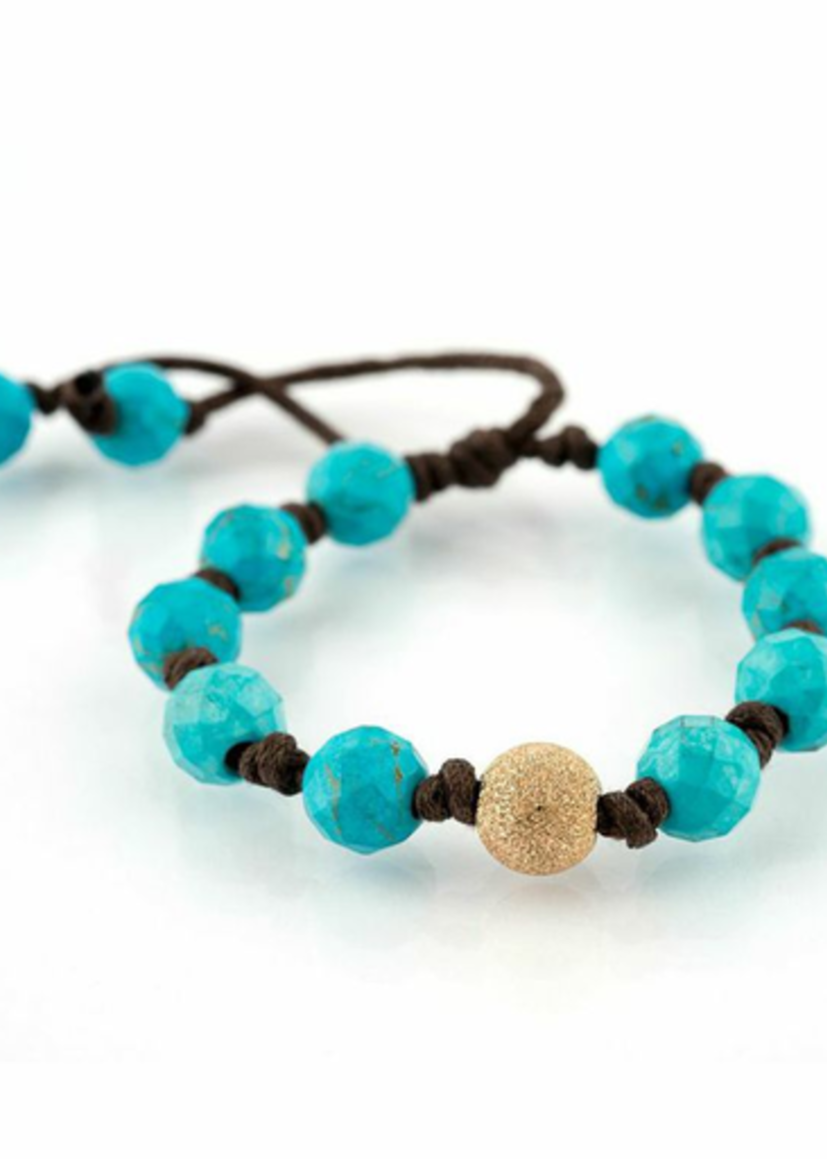 Mina Danielle Turquoise with Large Gold Stardust