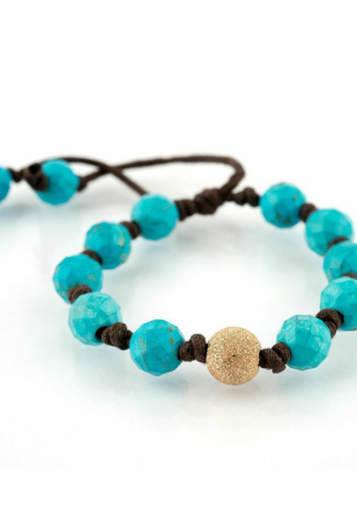 Turquoise with Large Gold Stardust
