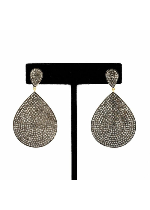Mina Danielle Pavé Diamond Teardrop Earrings