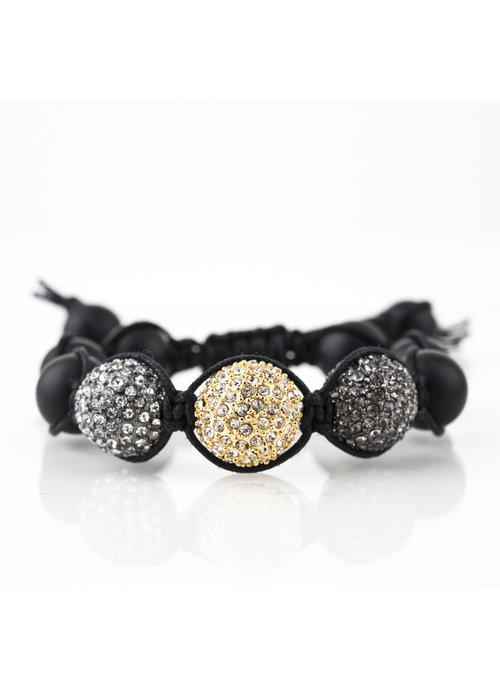 Mina Danielle Macramé Black Onyx with Macramé Crystal Spheres