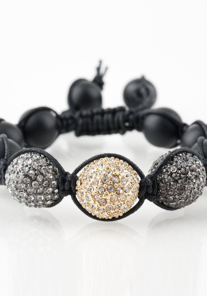 Macramé Black Onyx with Macramé Crystal Spheres