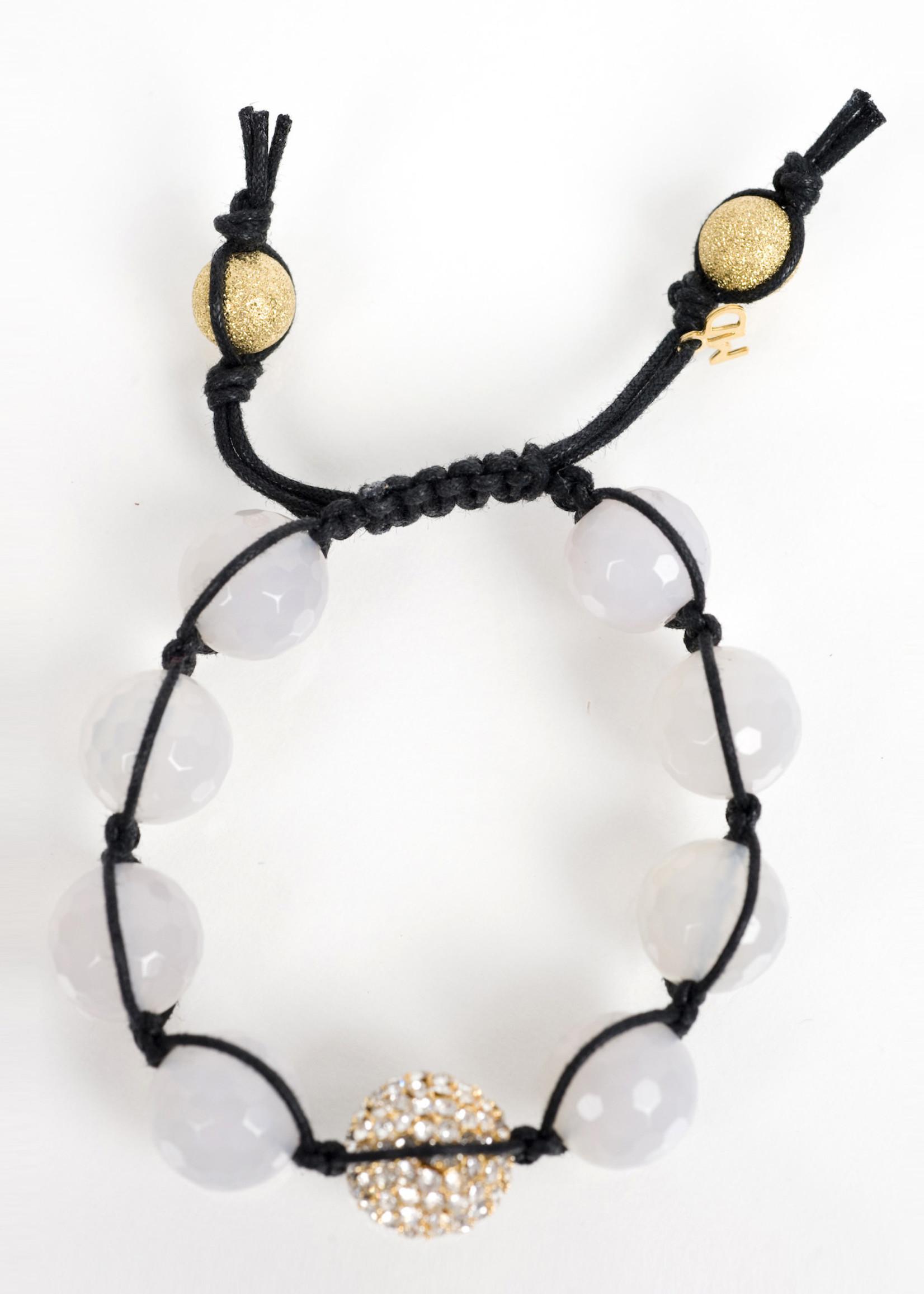Mina Danielle Macramé Moonstone with Gold Macramé Crystal