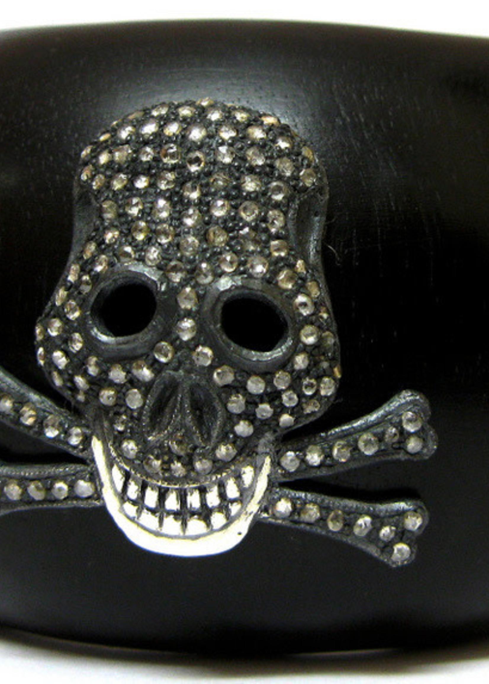 Mina Danielle Ebony and Diamond Skull Cuff