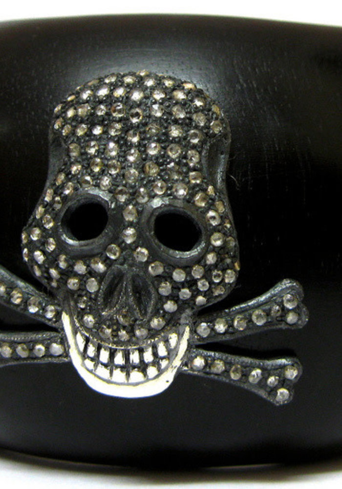 Ebony and Diamond Skull Cuff