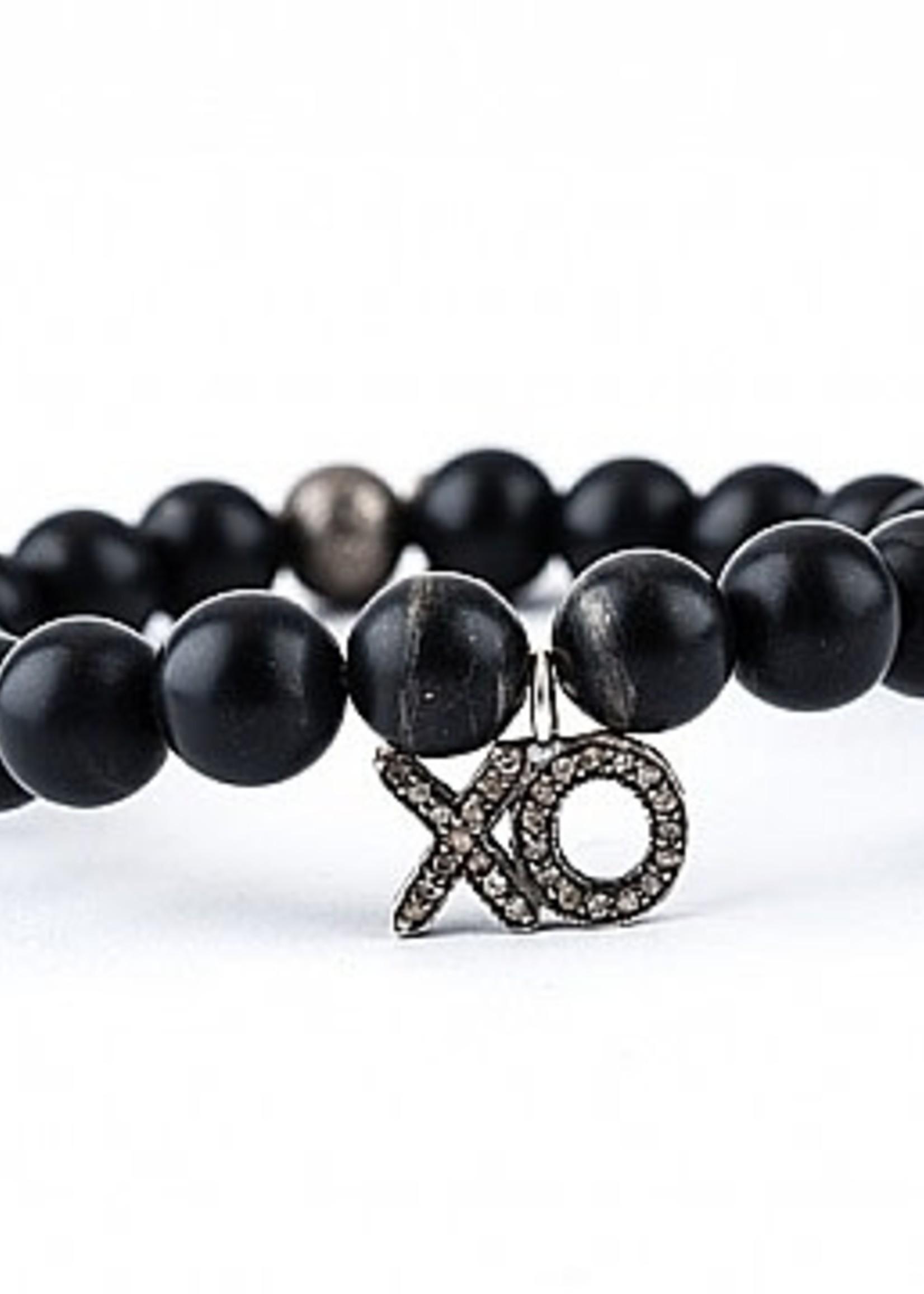 Mina Danielle Black Onyx with Diamond XO Charm
