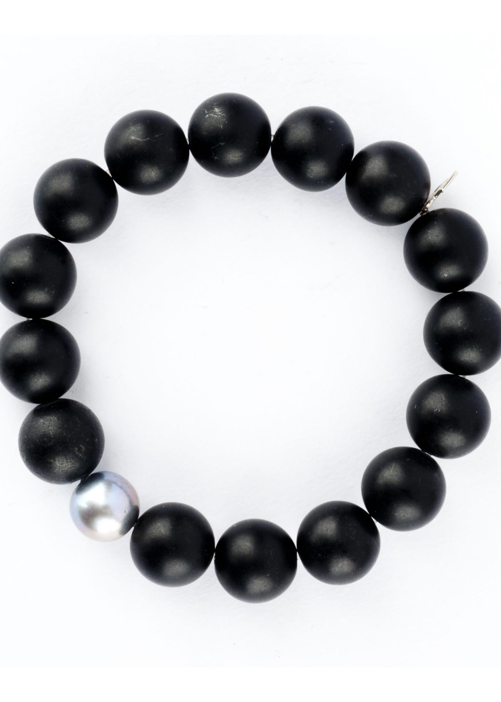 Mina Danielle Black Onyx with Gray Pearl