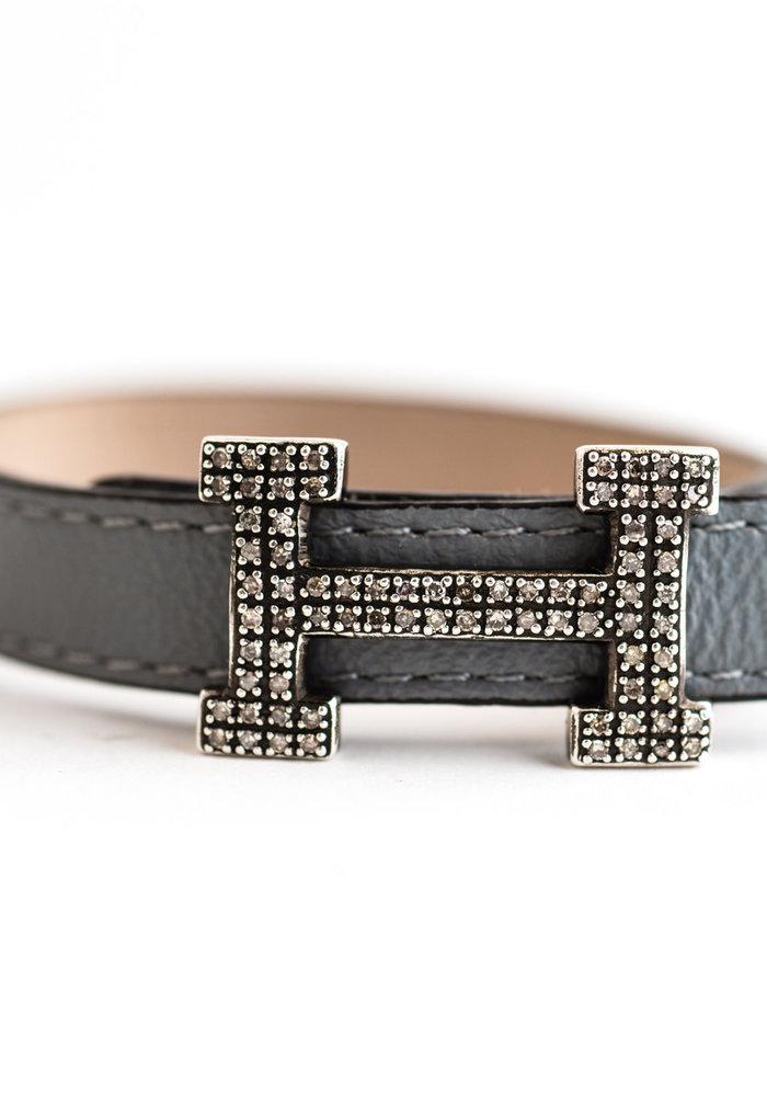 Diamond H bracelet
