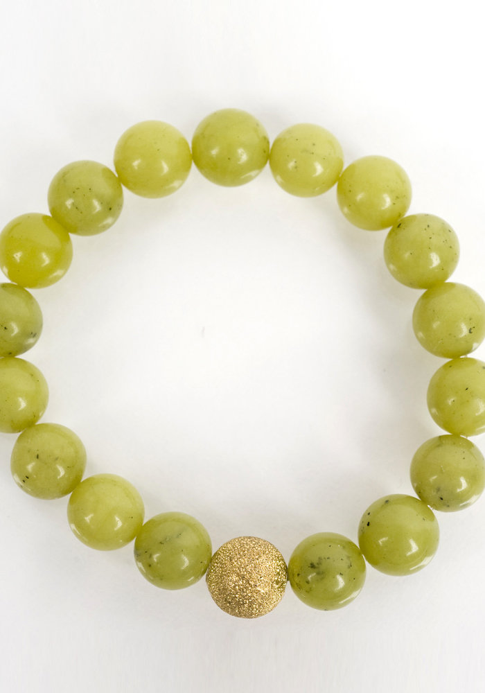 Celadon Green with Gold Stardust