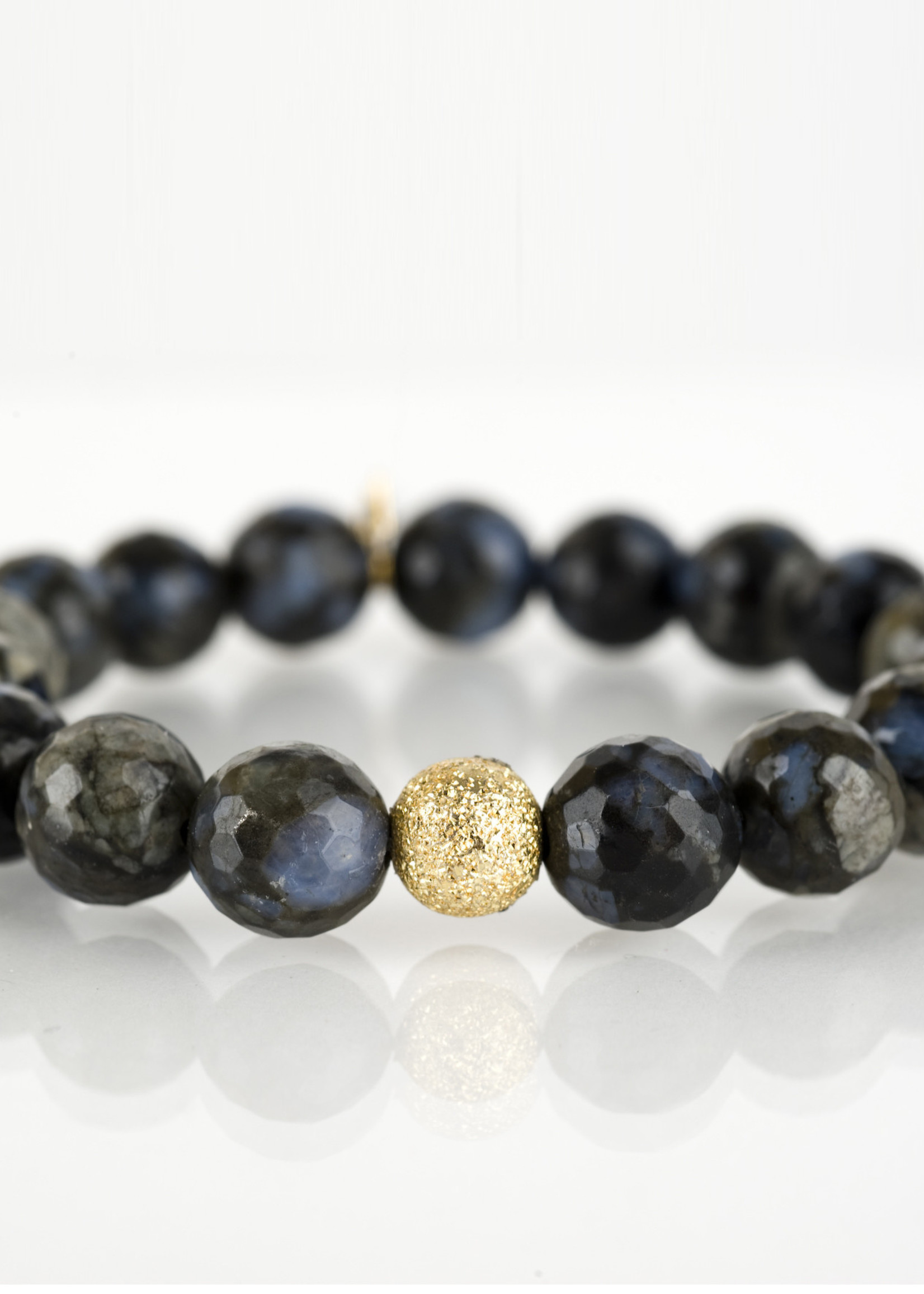 Mina Danielle Faceted Agate with Gold Stardust