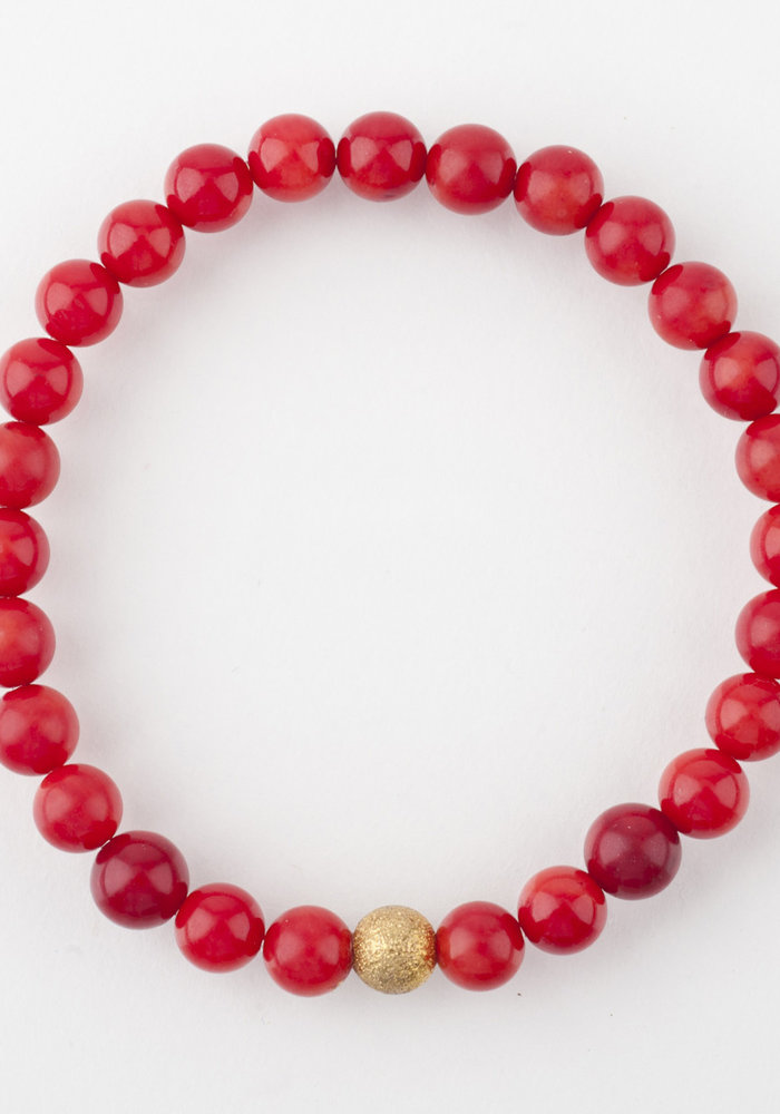 Mini Red Coral with Gold Stardust