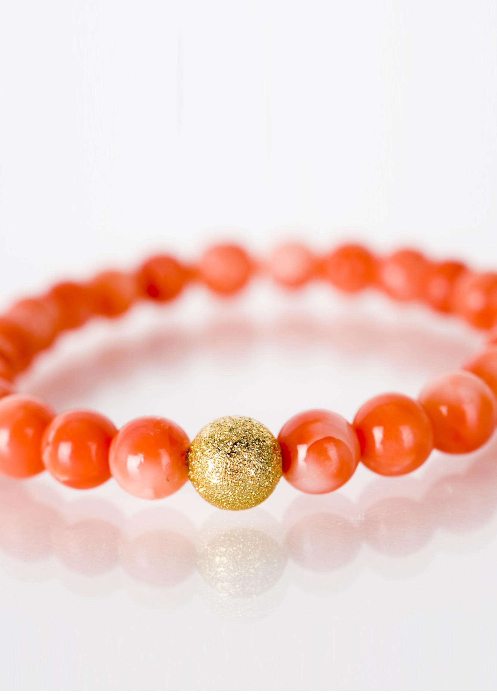 Mina Danielle Mini Peachy Coral with Gold Stardust