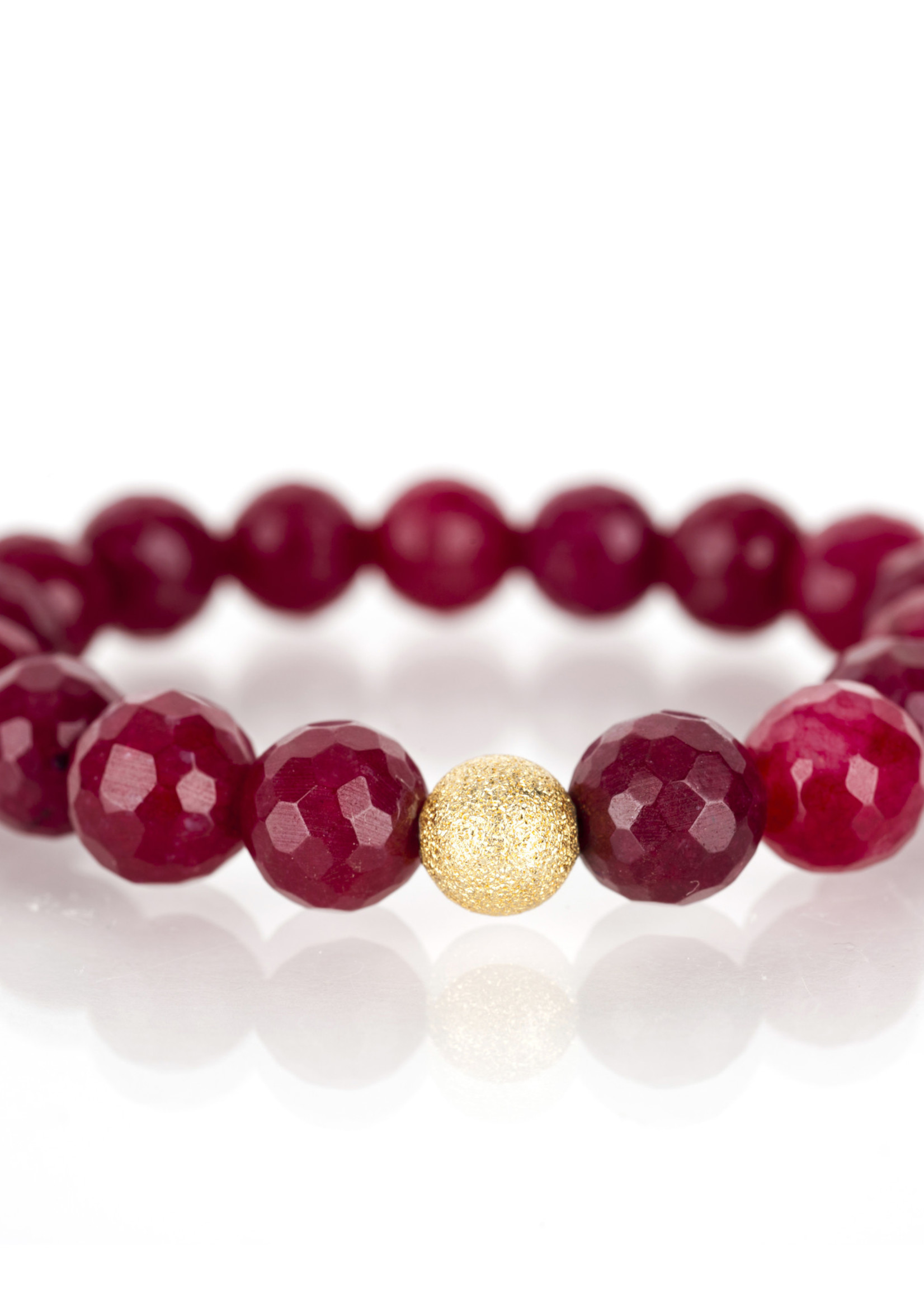 Mina Danielle Faceted Ruby with Gold Stardust