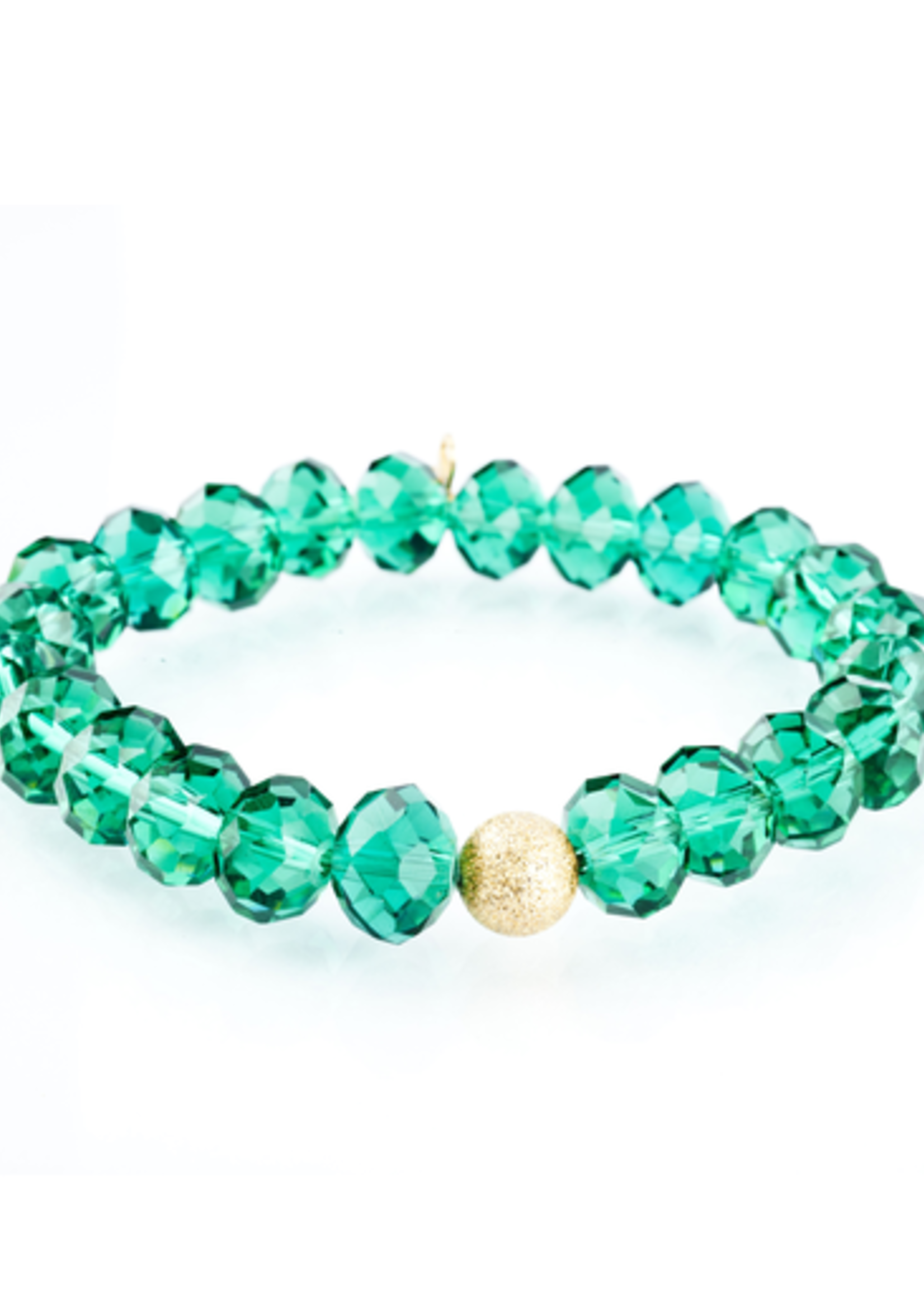 Mina Danielle Green Glass with Gold Stardust