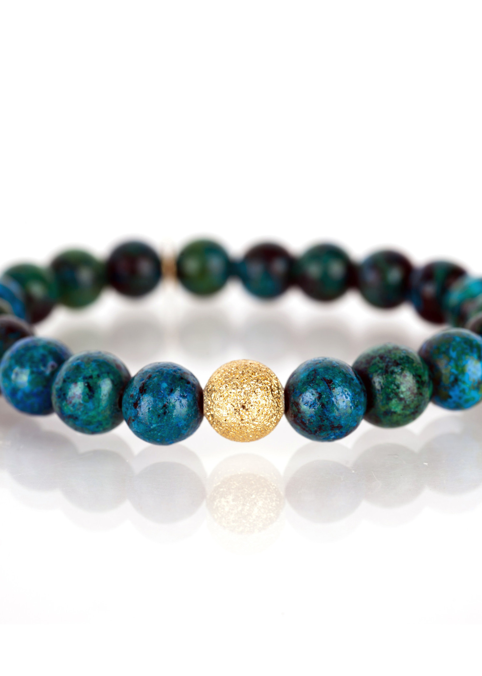 Mina Danielle Turquoise with Gold Stardust