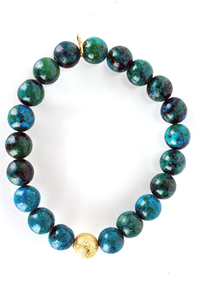Turquoise with Gold Stardust