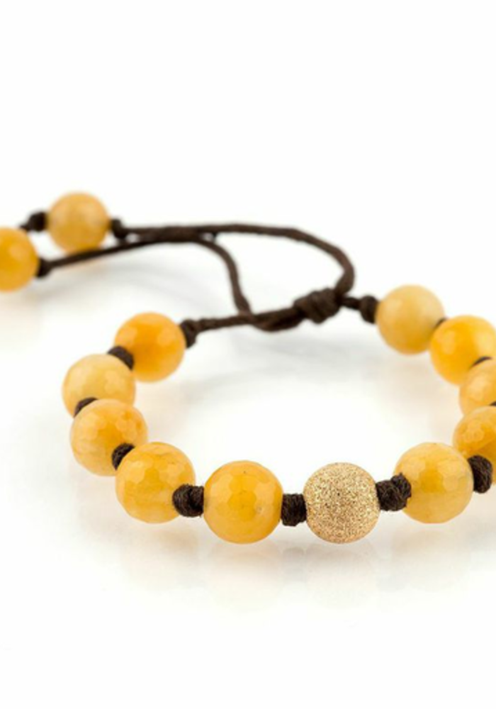 Citrine with Large Gold Stardust