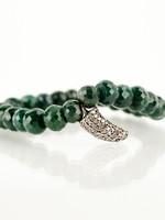 Mina Danielle **KYLE RICHARD'S UMANSKY** Emerald & Pavé Diamond Horn Stretch Bracelet