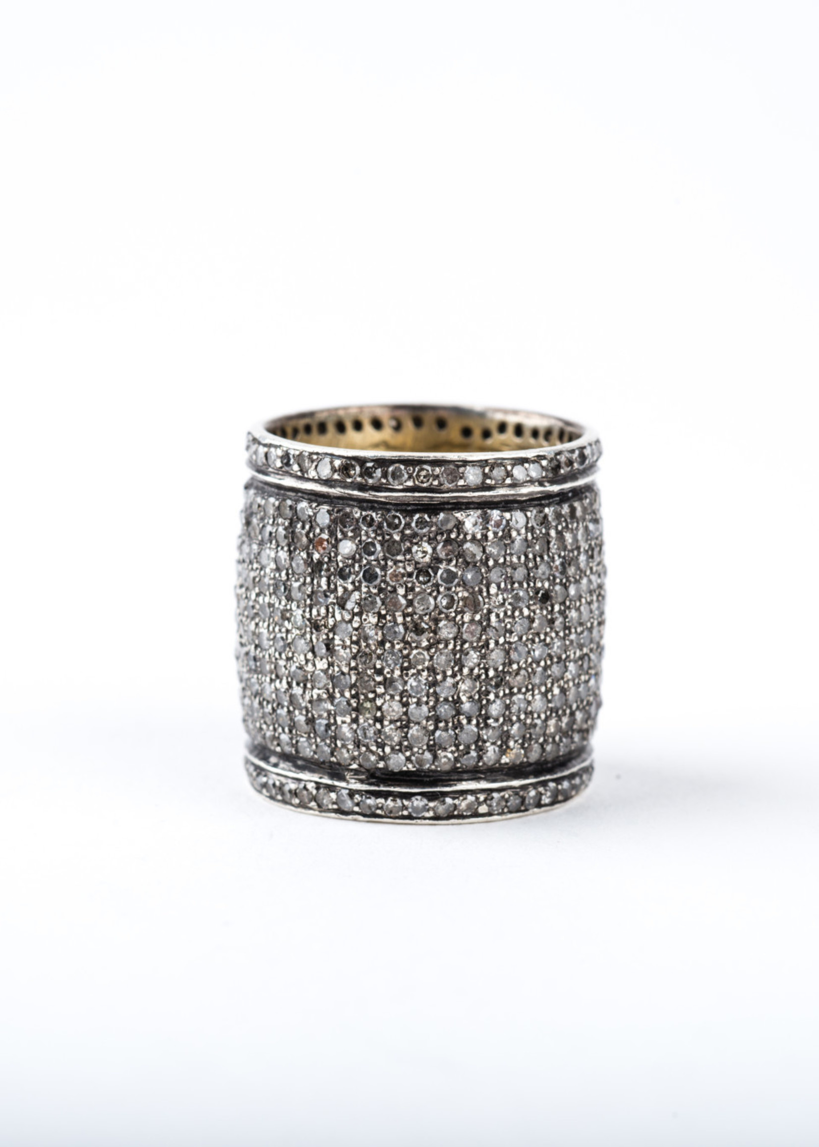 Mina Danielle Pavé Diamond Cigar Band Ring