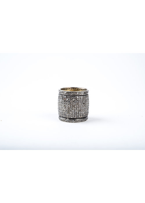 Mina Danielle Pavé Diamond Cigar Band Ring