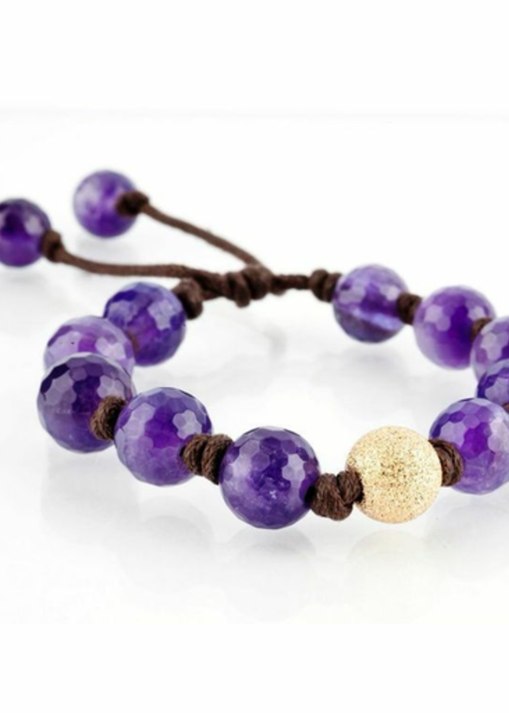 Mina Danielle Amethyst with Large Gold Stardust