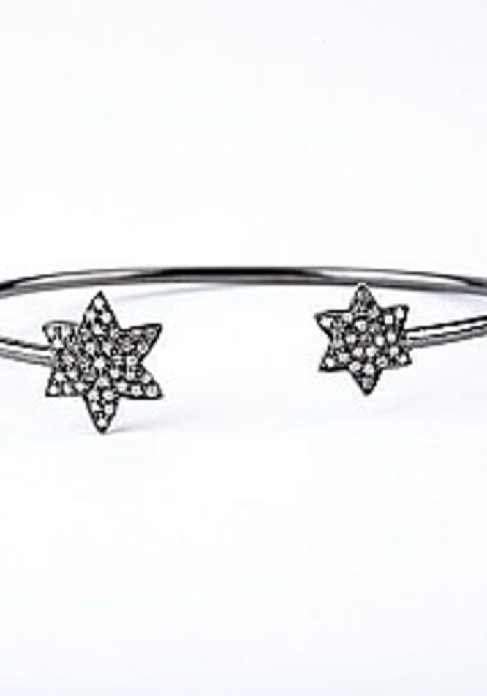 Thin Diamond Star Cuff