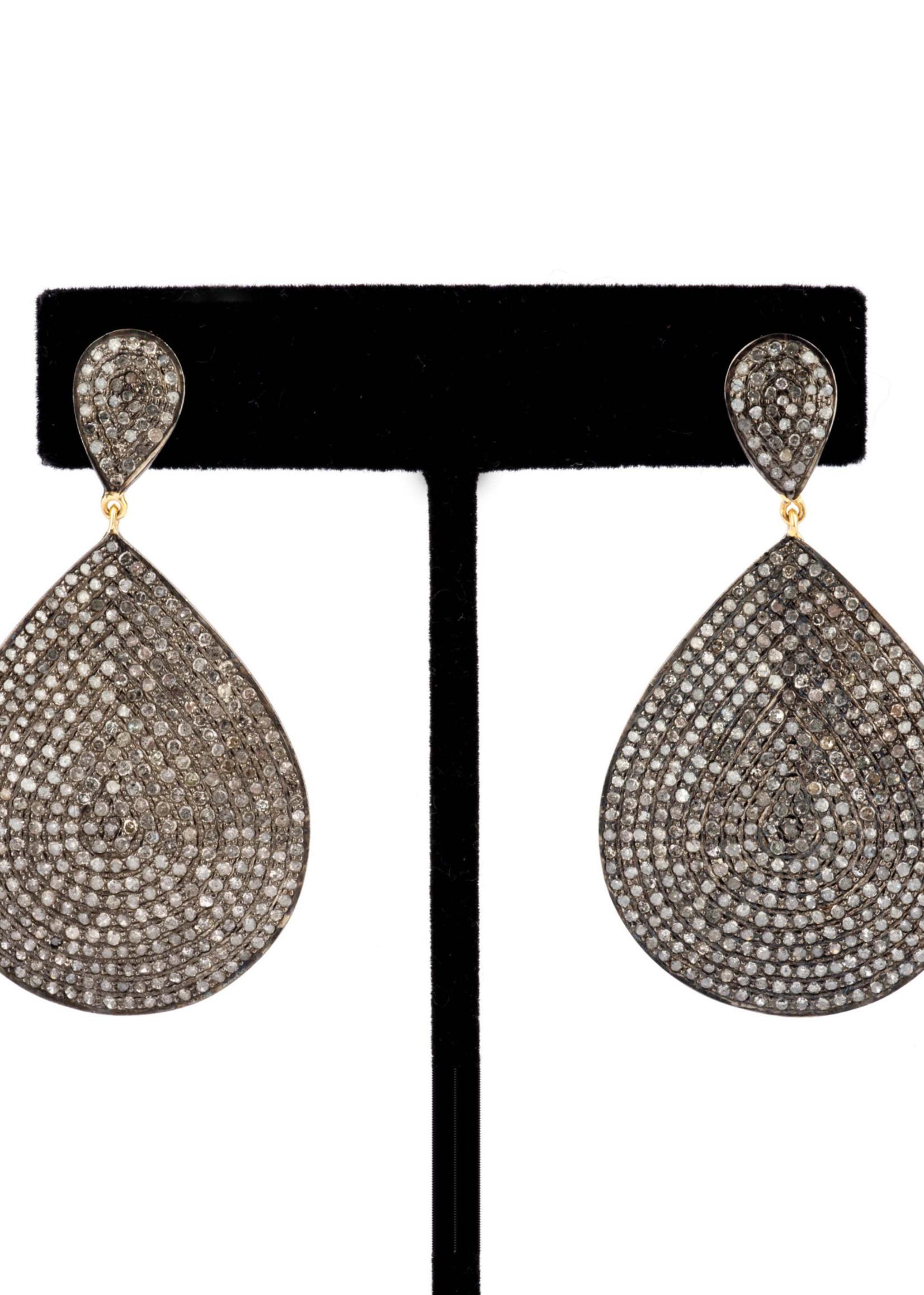 Mina Danielle Pavé Diamond Teardrop Earrings