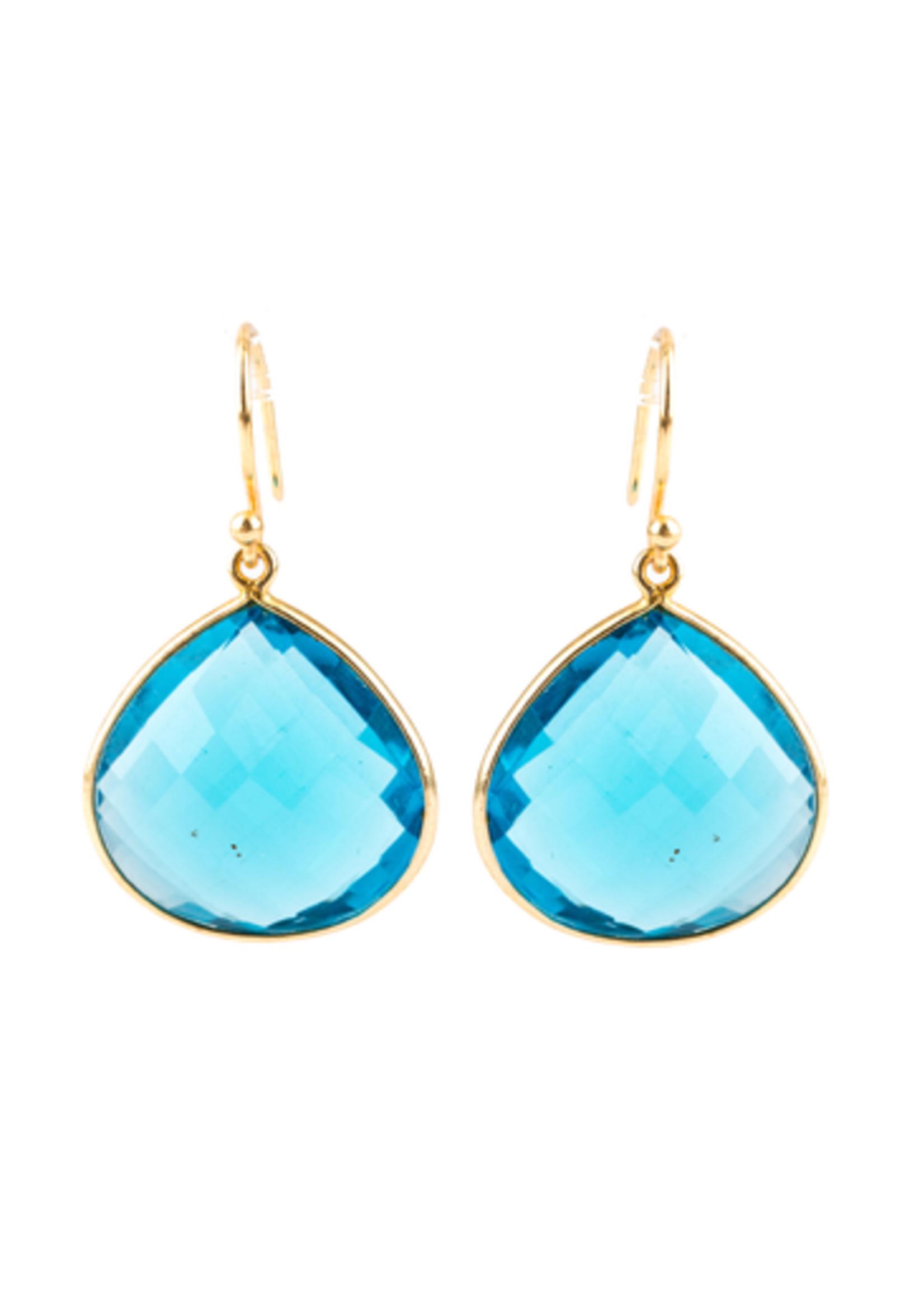 Mina Danielle Blue Quartz Pear shaped earrings