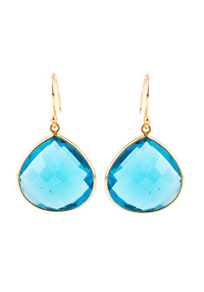 Blue Quartz Pear shaped earrings