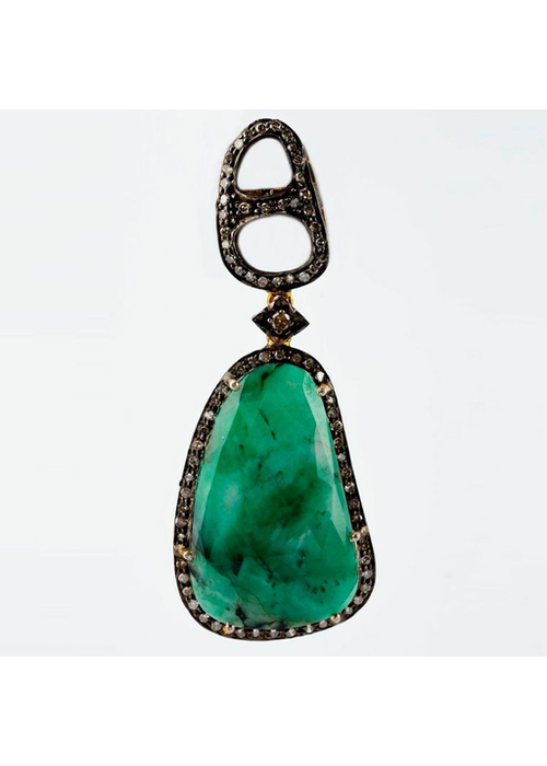 Mina Danielle Emerald and Diamond Earrings