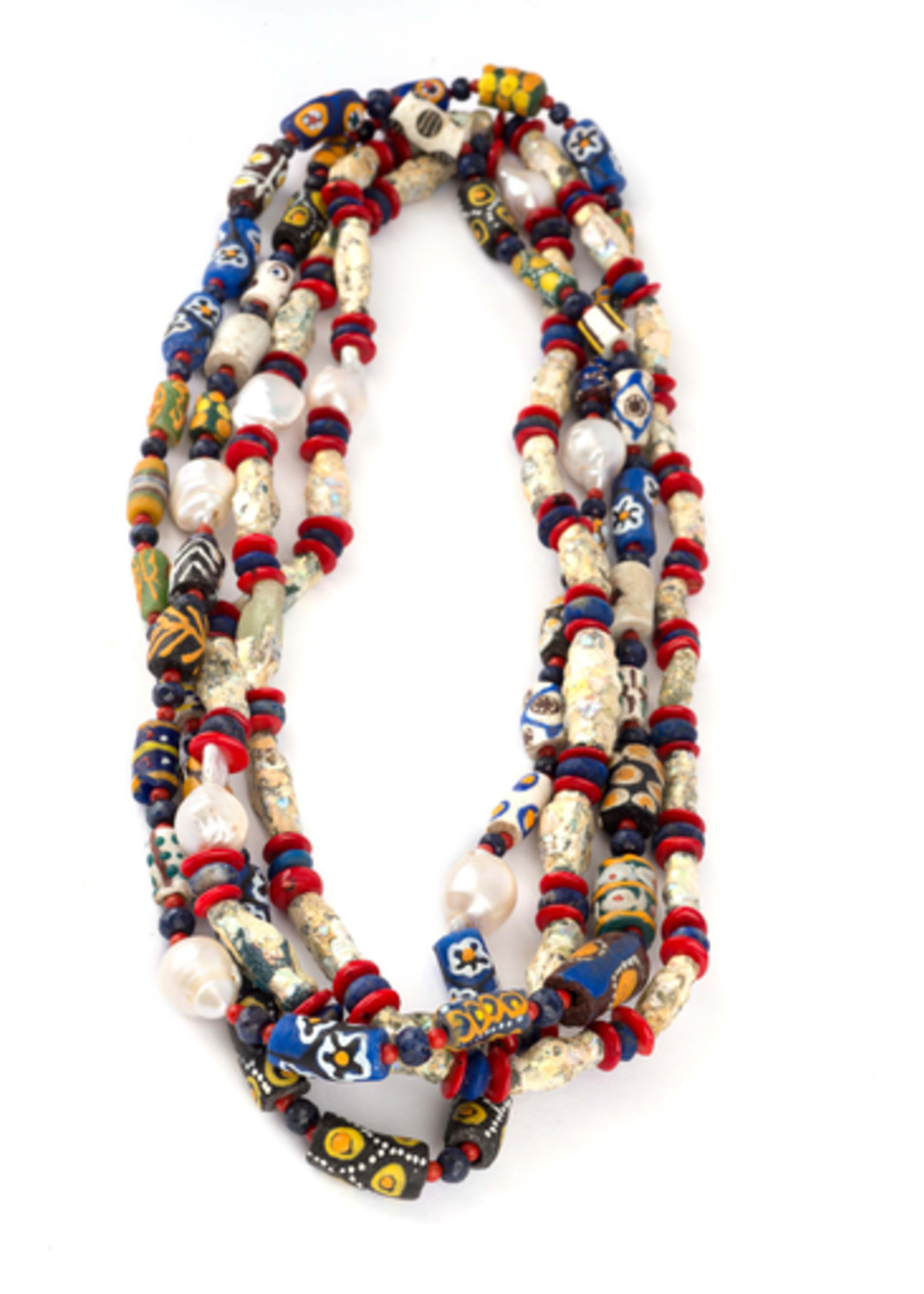Mina Danielle Baroque Pearl Tribal Necklace