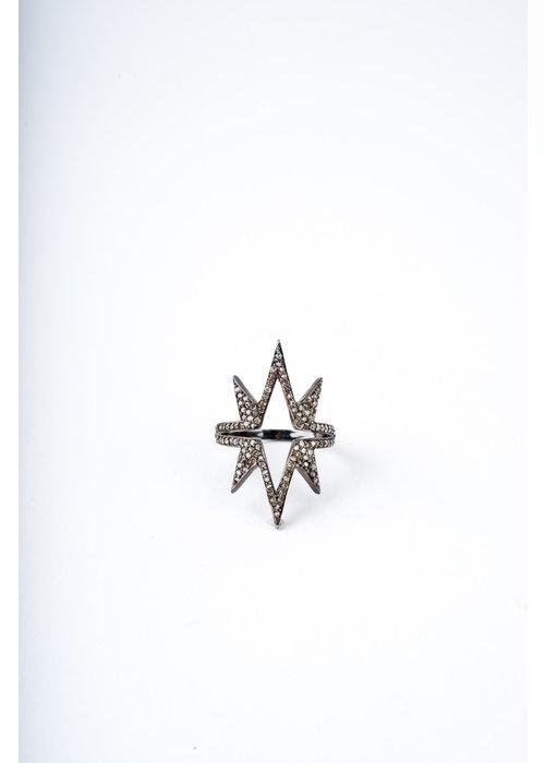 Mina Danielle Diamond Starburst ring