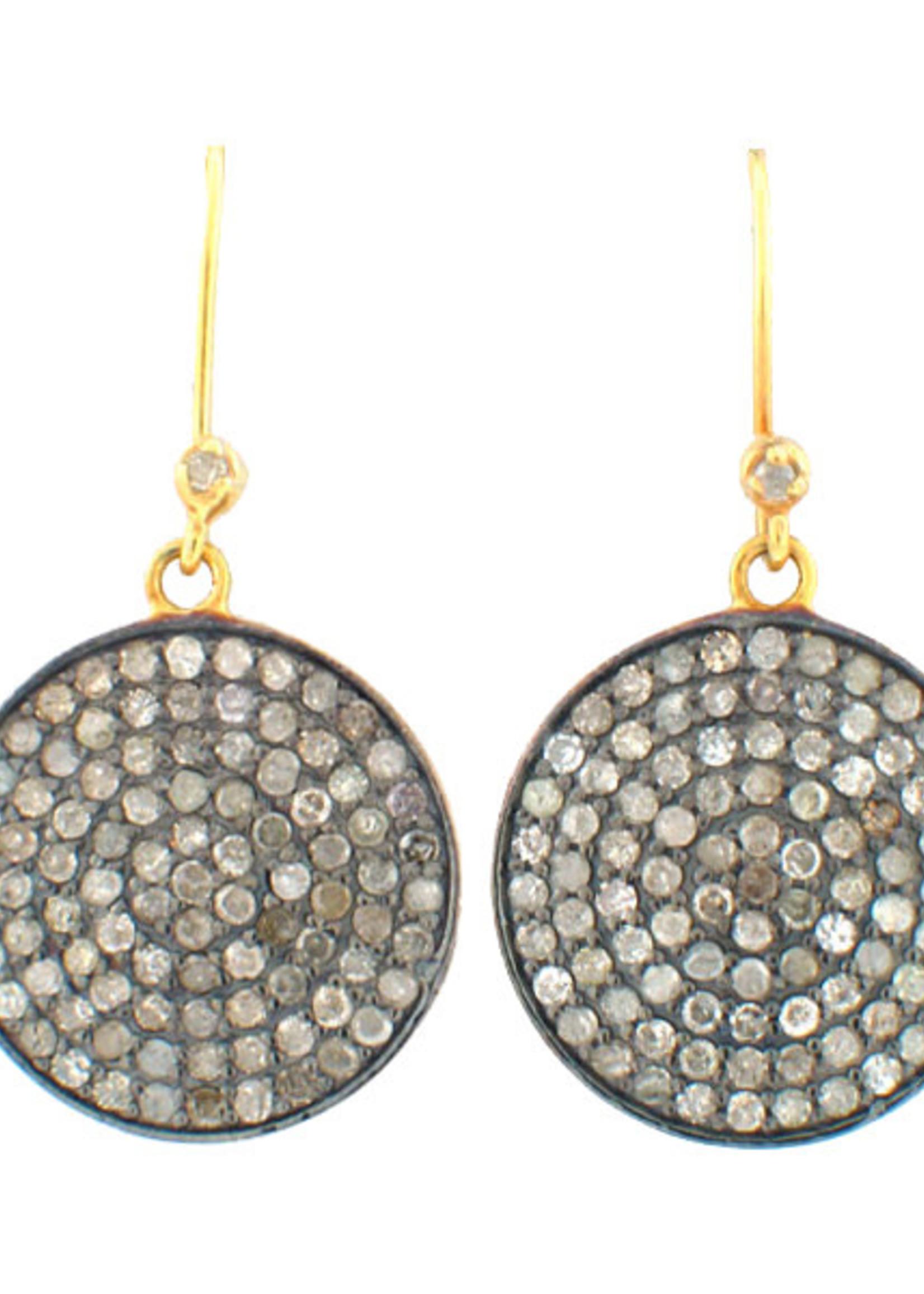 Mina Danielle Pavé Diamond Disc Earrings