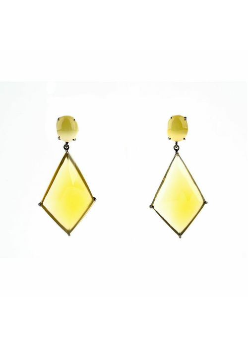 Mina Danielle Yellow Onyx Earrings