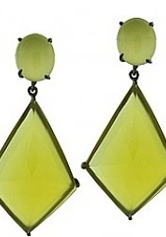 Yellow Onyx Earrings