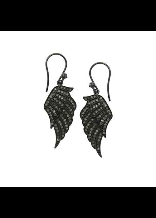 Mina Danielle Wing Shaped Diamond Earrings
