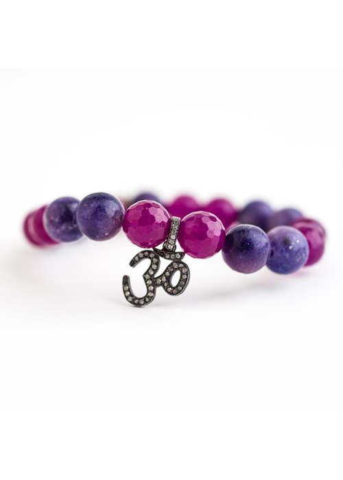 Mina Danielle Amethyst with Diamond OM Charm