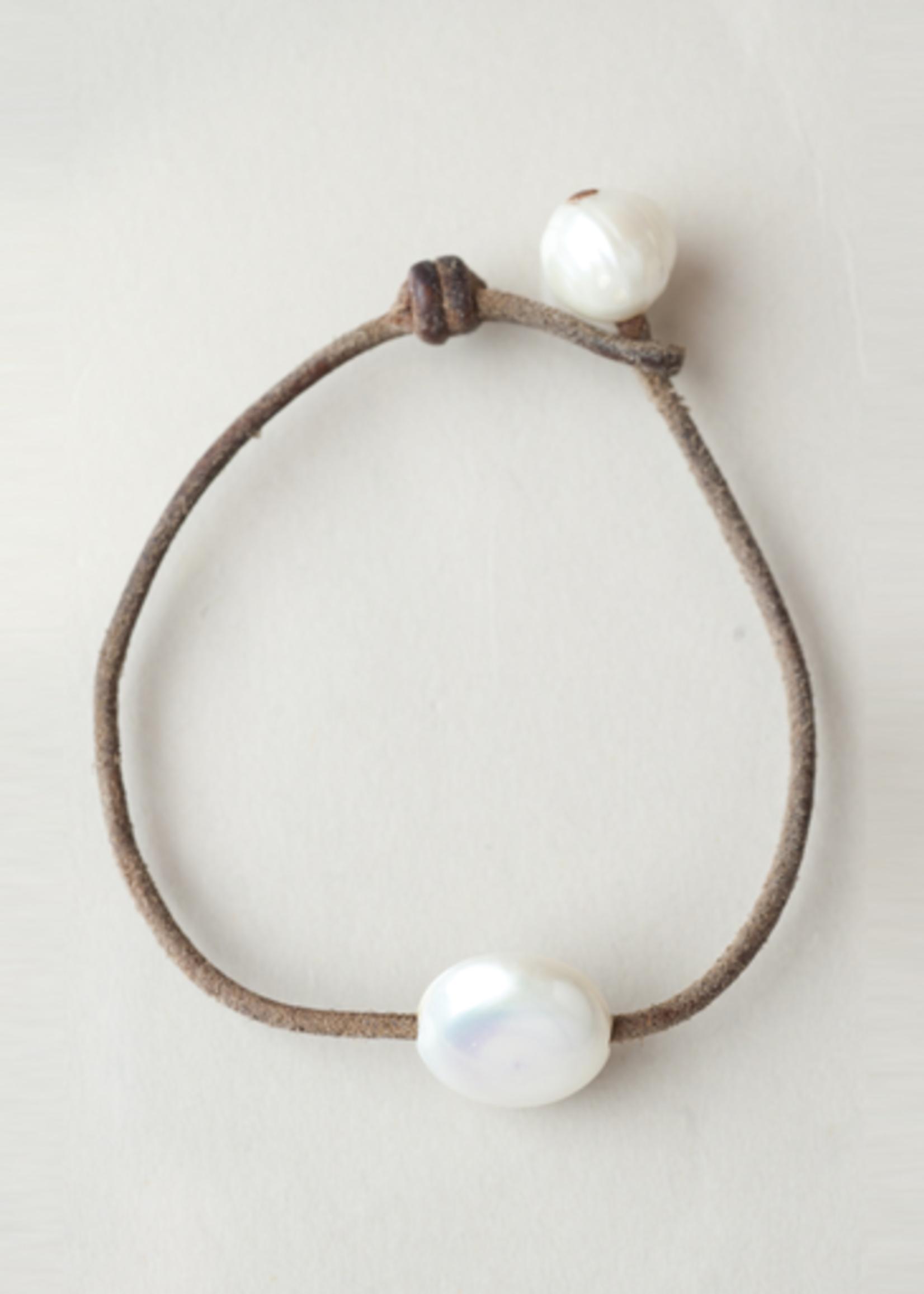 Mina Danielle Coin Pearl with Blue Semi-Precious Stone