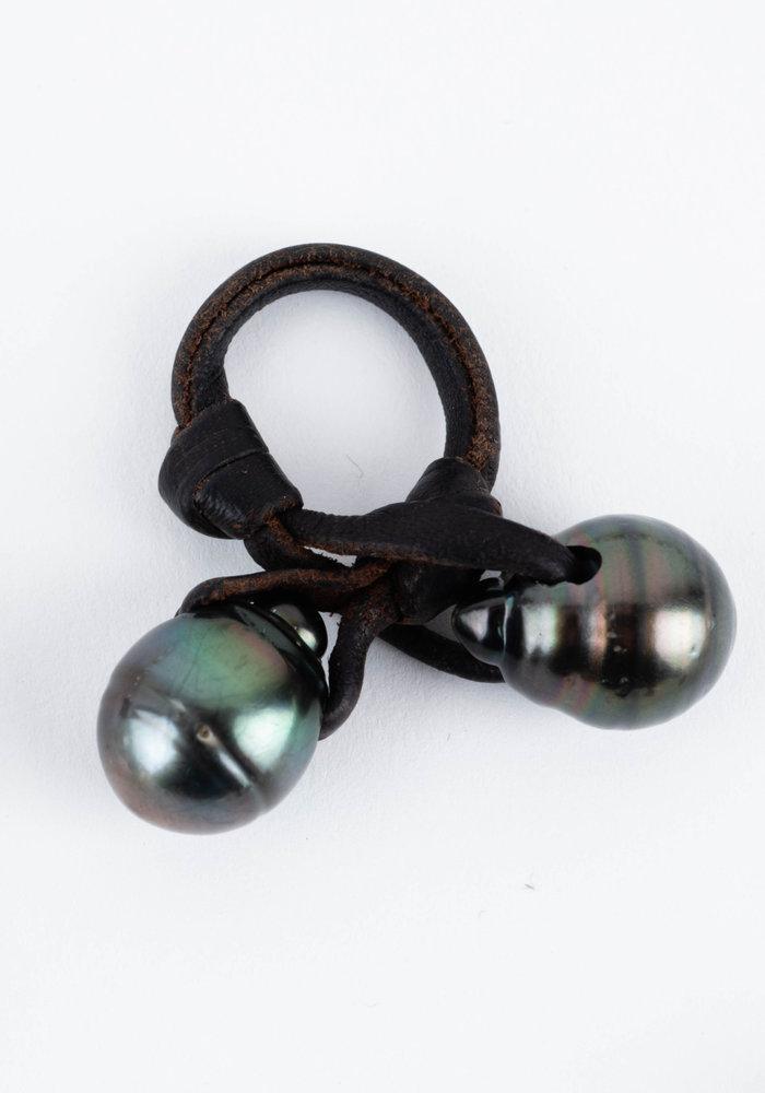 Gray Tahitian Pearl Knock Ring