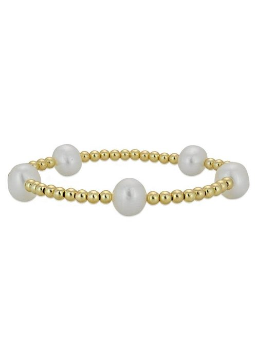 Gold Pearl Beaded Stacking
