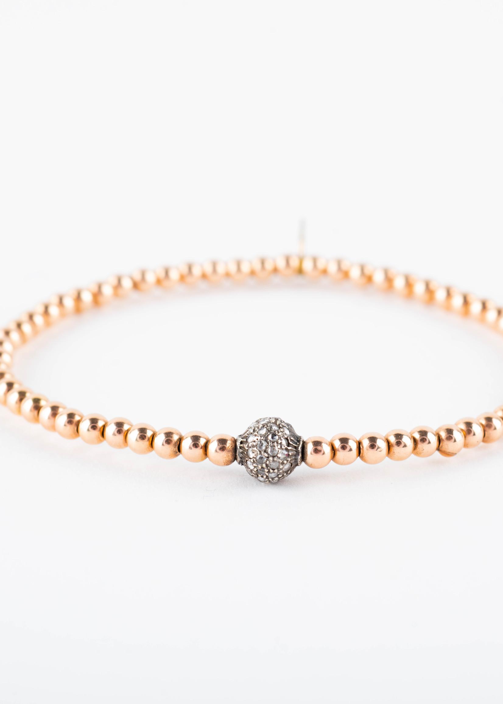 Rose Gold Diamond Beaded Stacking