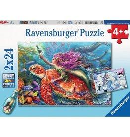 Ravensburger Les aventures des sirènes 2 x 24 pièces