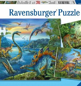 Ravensburger La fascination des dinosaures 3x49pcs