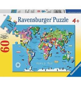 Ravensburger Carte du monde 60pcs